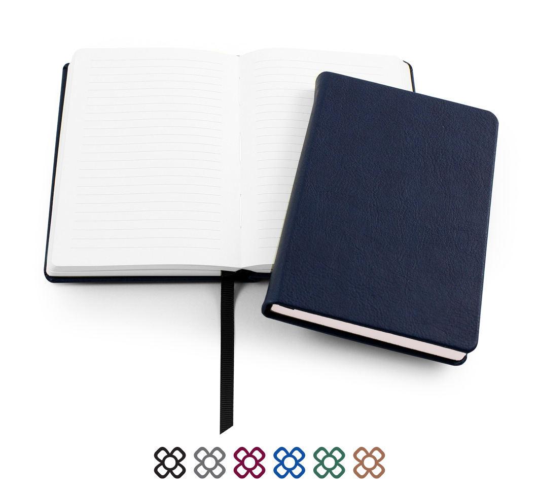 Biodegradanle Notebook in a choice of five colours all with recycled paper.