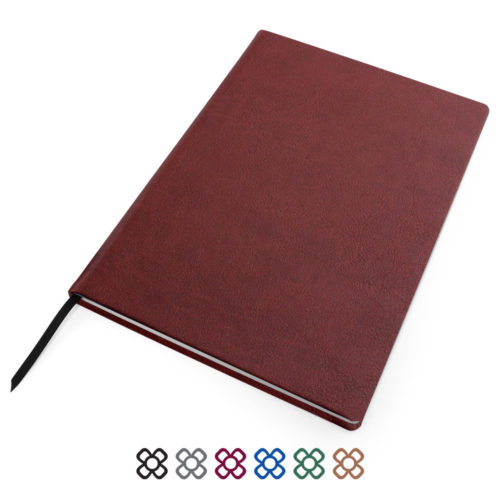 Biodegradable A4 Notebook with Recycled white lined paper.