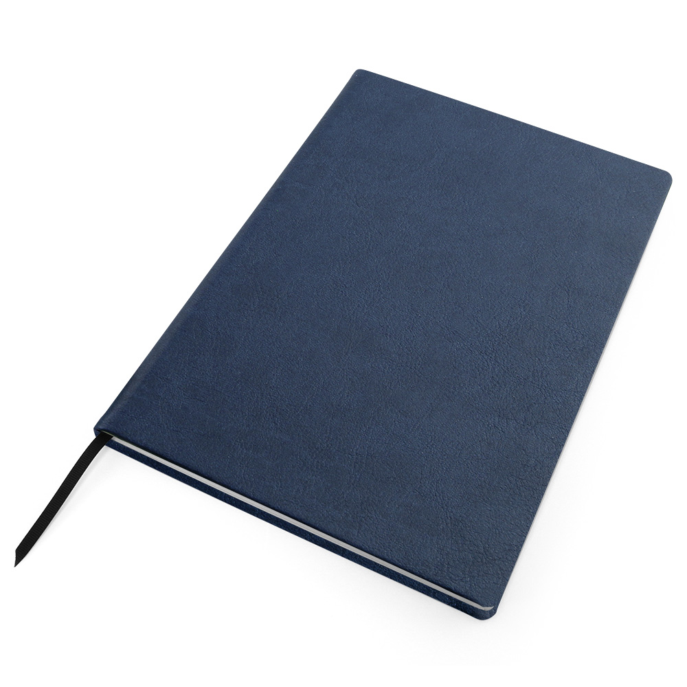 Blue a4 Biodegradable Notebook with recycled paper.