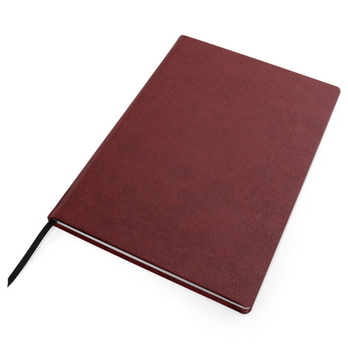 Wine Red Como Born Again Recycled Notebook
