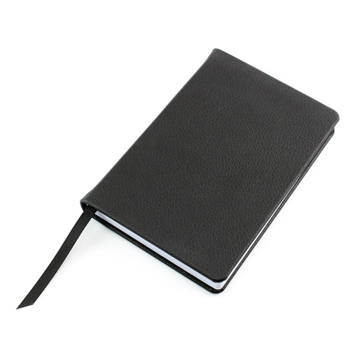 Black Como Recycled A6 Notebook