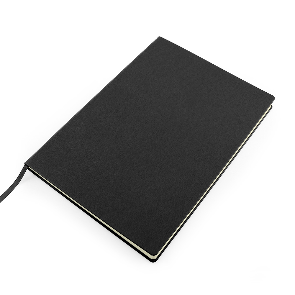 Black Como A4 Recycled Notebook