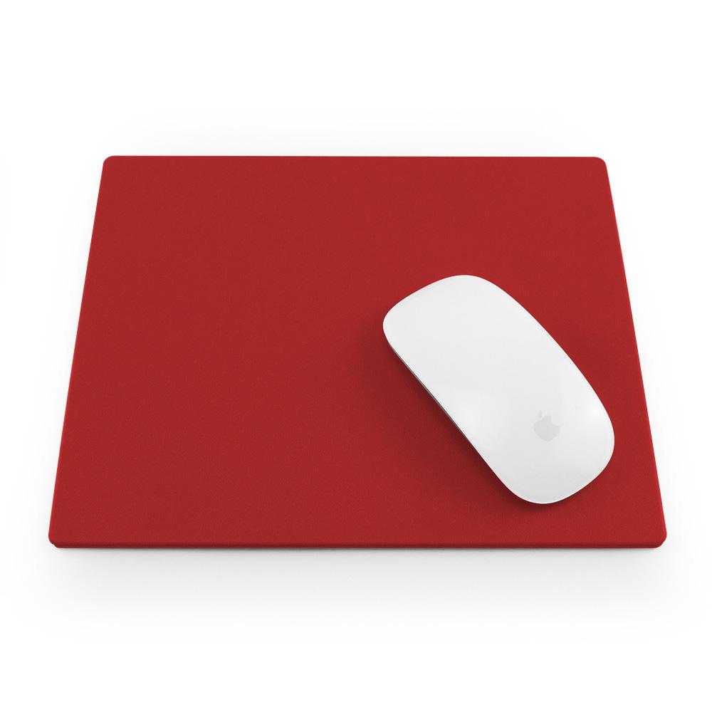 Cesca Tomato Red Matt Velvet soft touch mouse mat in Tomato Red