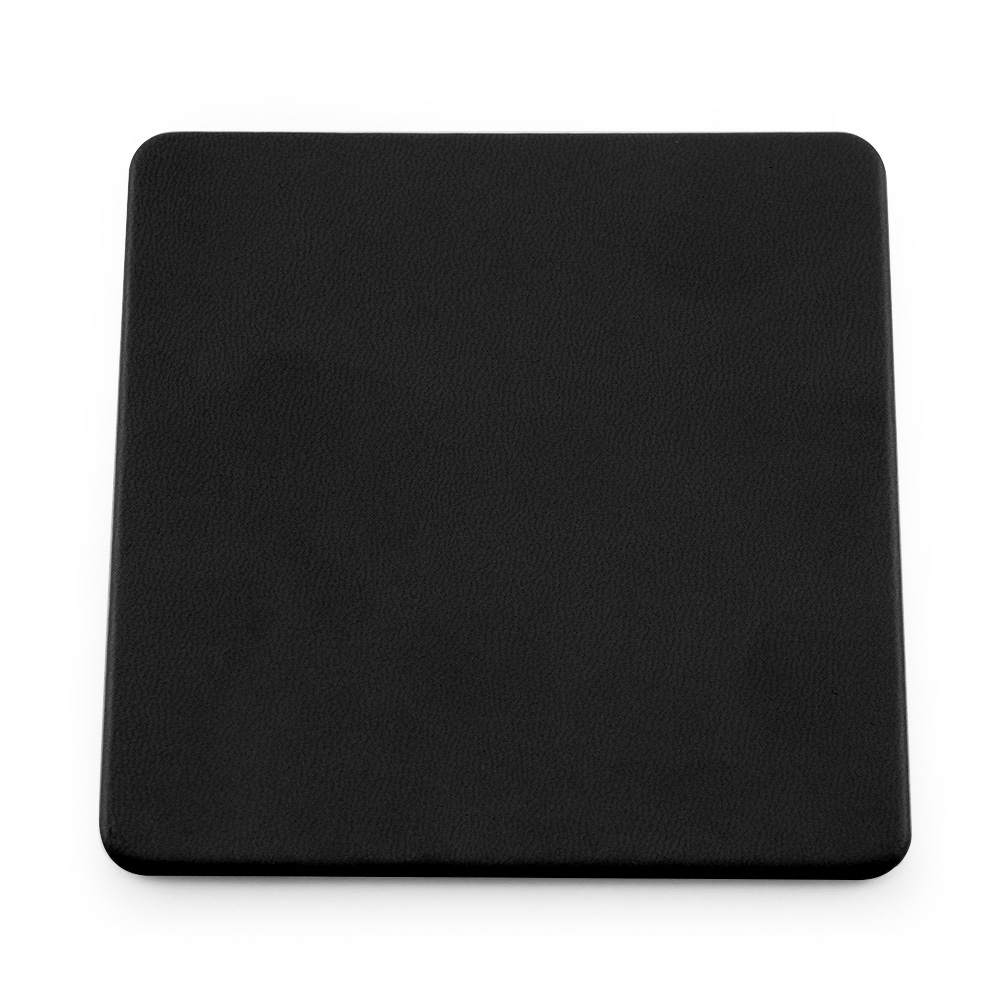 Black Soft Touch Square Coaster