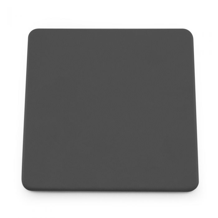 Dark Grey Soft Touch Square Coaster