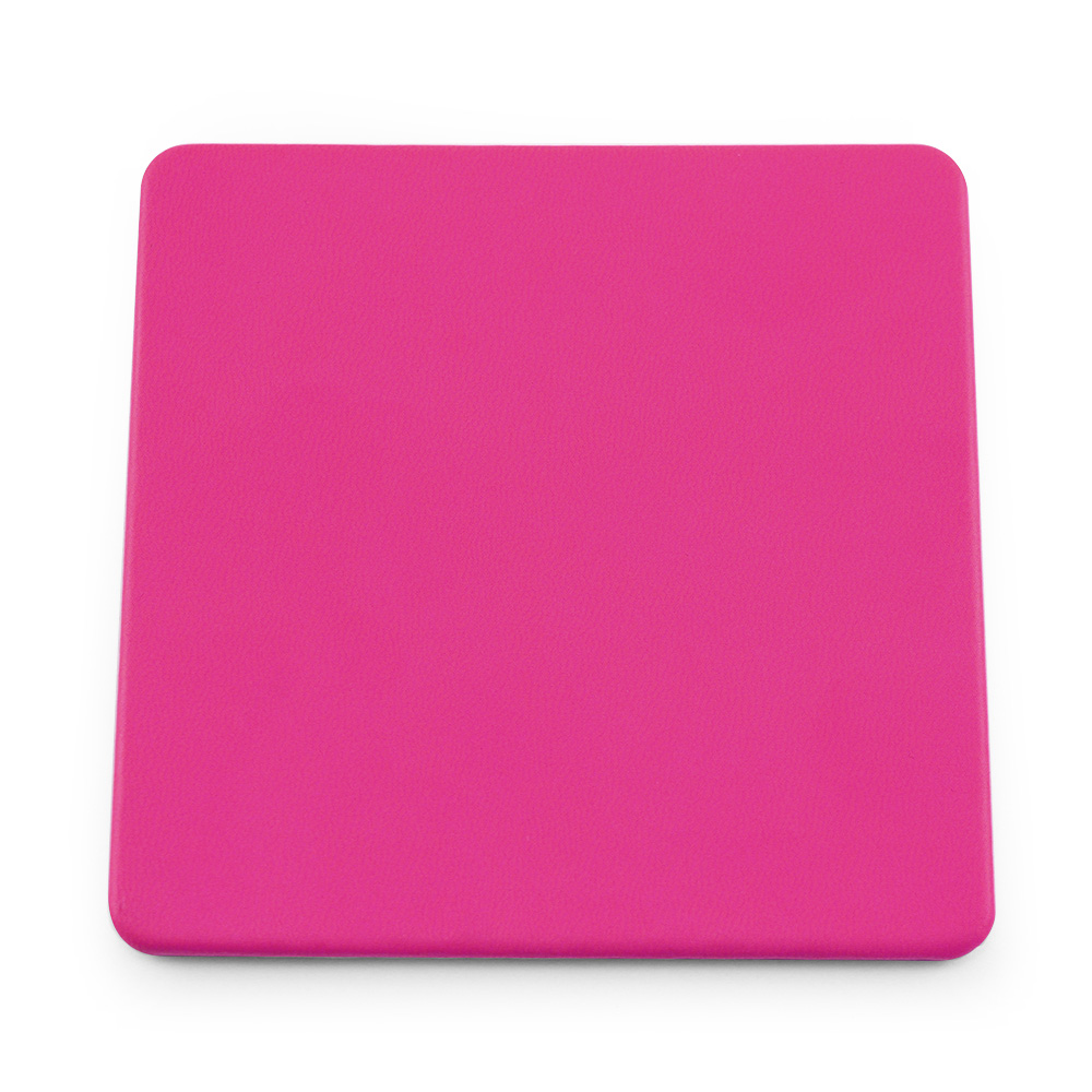 Hot Pink Soft Touch Square Coaster