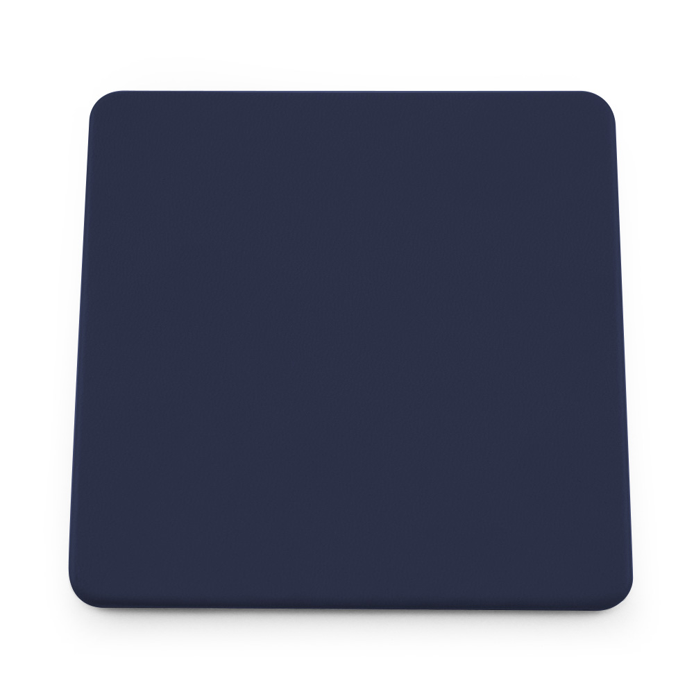 Marine Navy Soft Touch Square Coaster