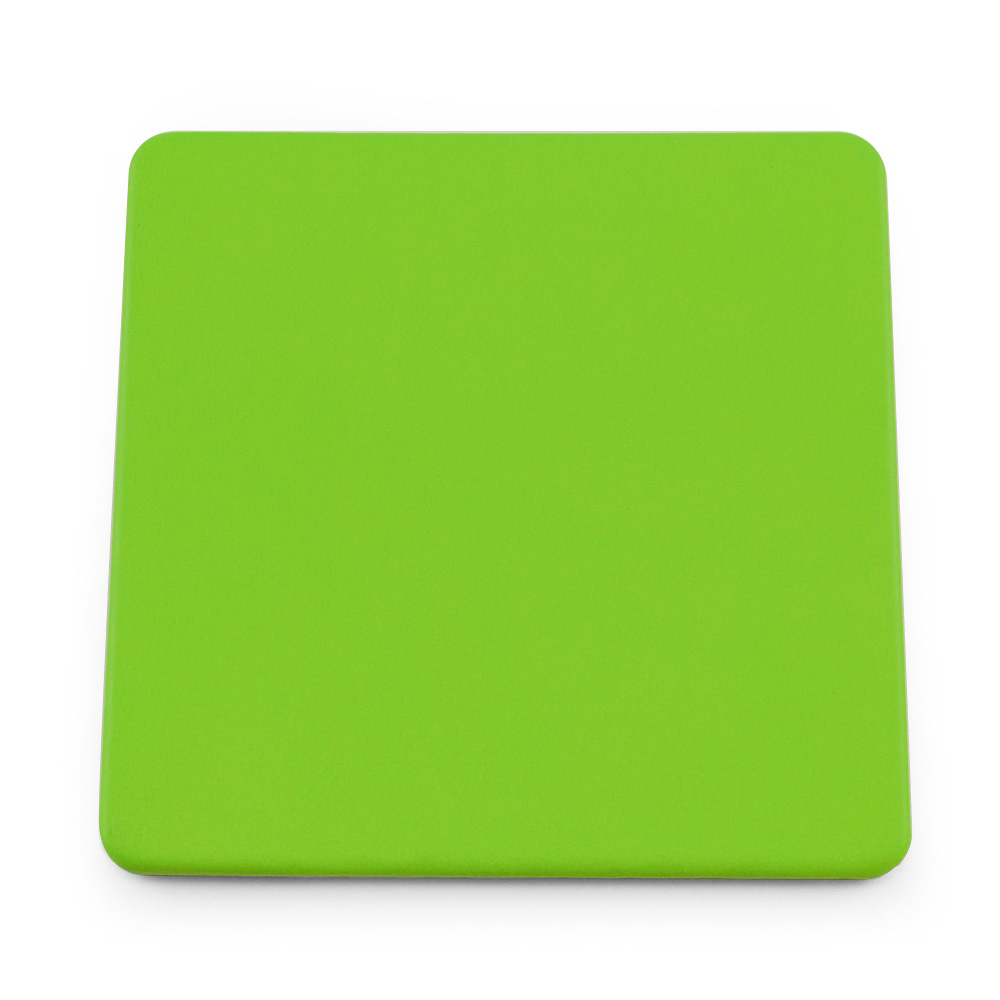 Apple Green Soft Touch Square Coaster