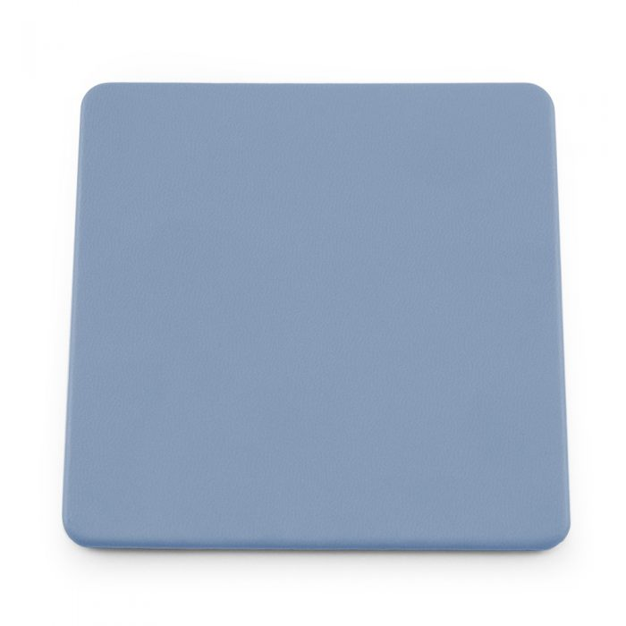 Powder Blue Soft Touch Square Coaster