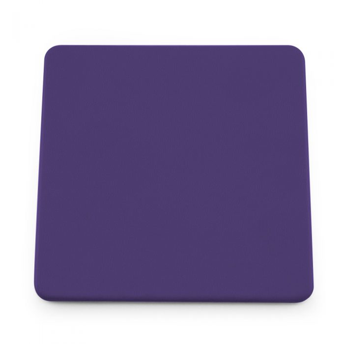 Purple Soft Touch Square Coaster