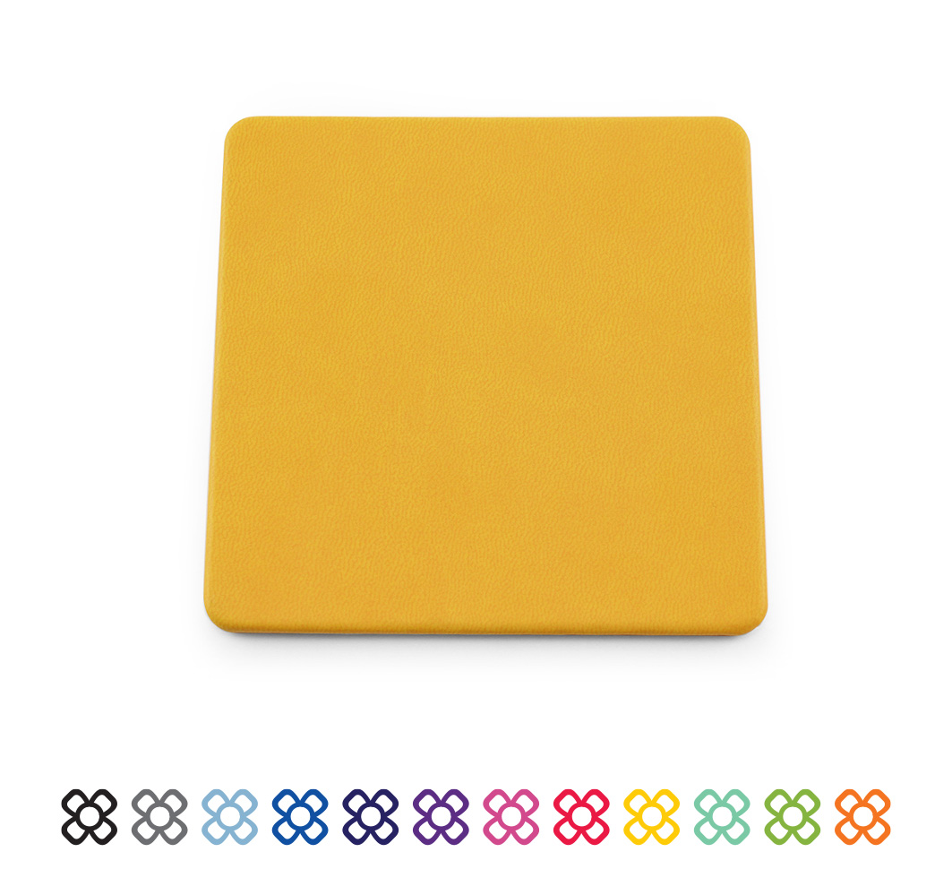 Soft Touch Square Coaster 12 Colours