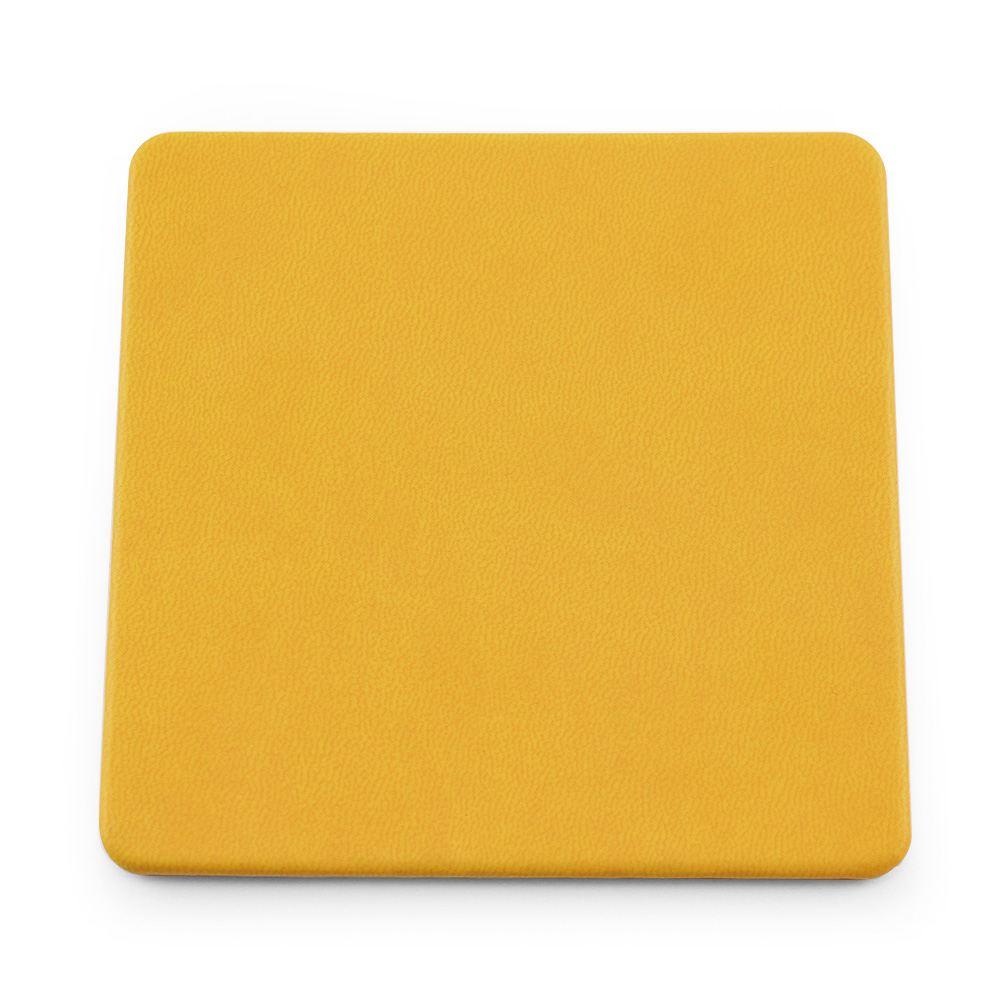 Sunflower Yellow Soft Touch Square Coaster