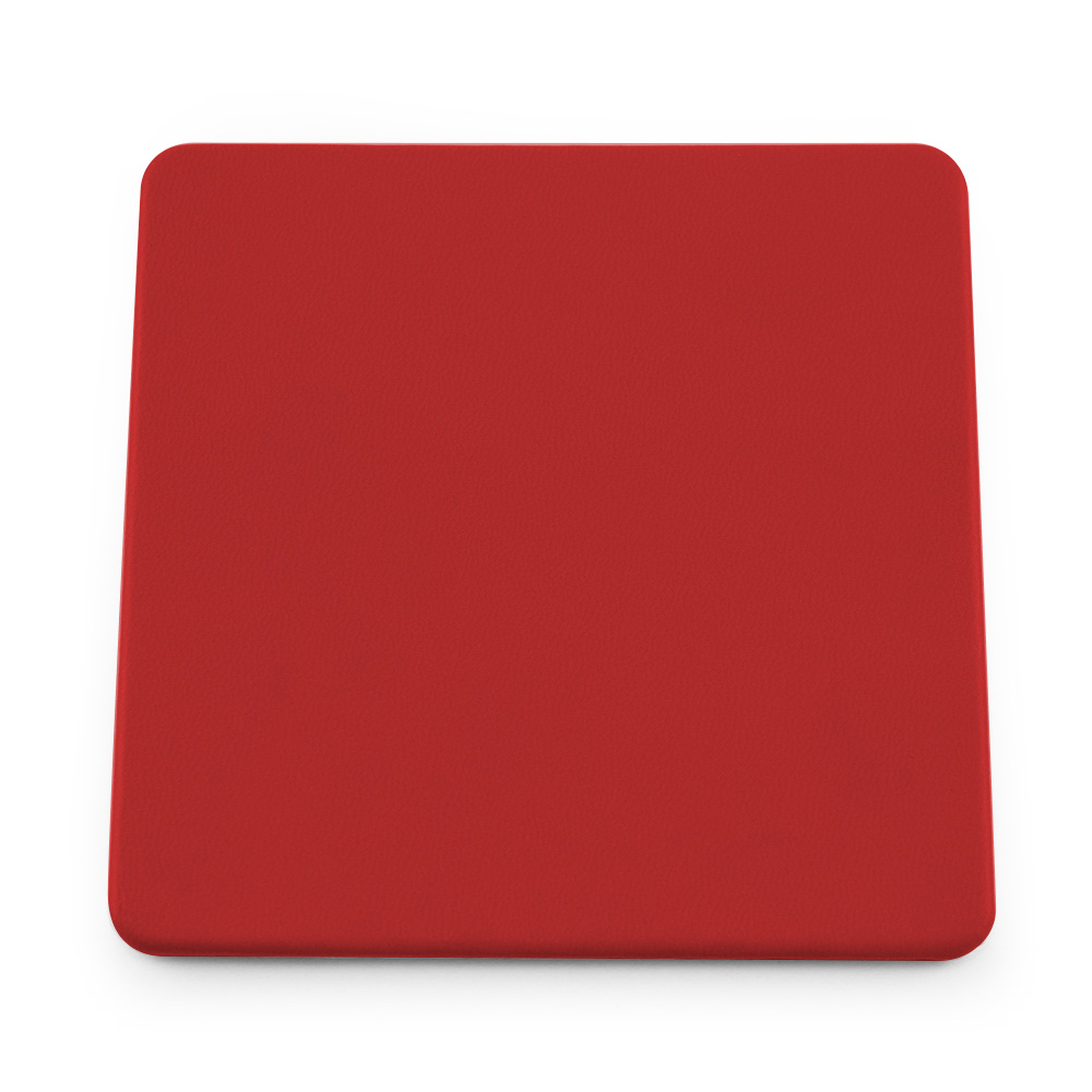 Tomato Red Soft Touch Square Coaster