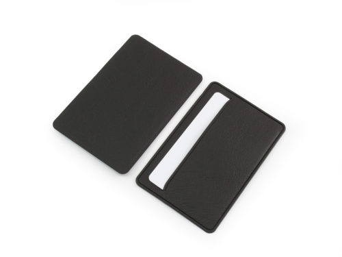 Black Slimline card case Biodegradable