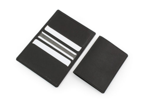 black biodegradable credit card case