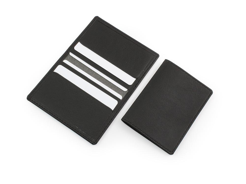 black biodegradable credit card case