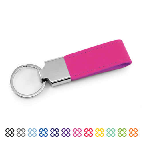 Vegan Soft Touch Loop Key Fob in 12 colours.