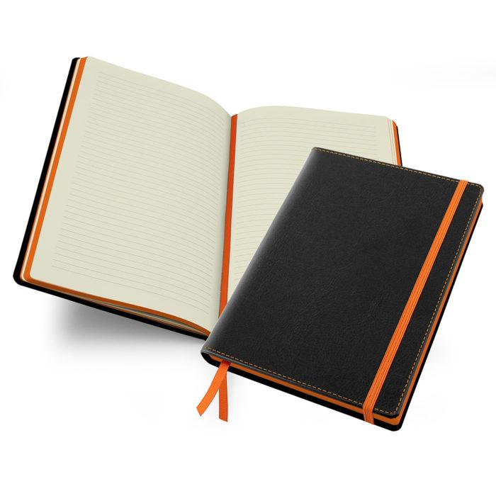 Black & Orange Accent Notebook