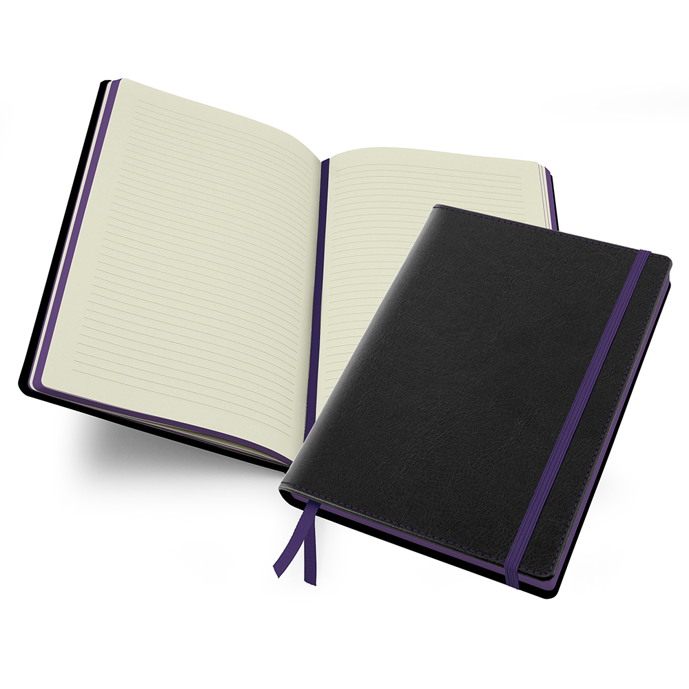 Accent Notebook in Black & Purple.