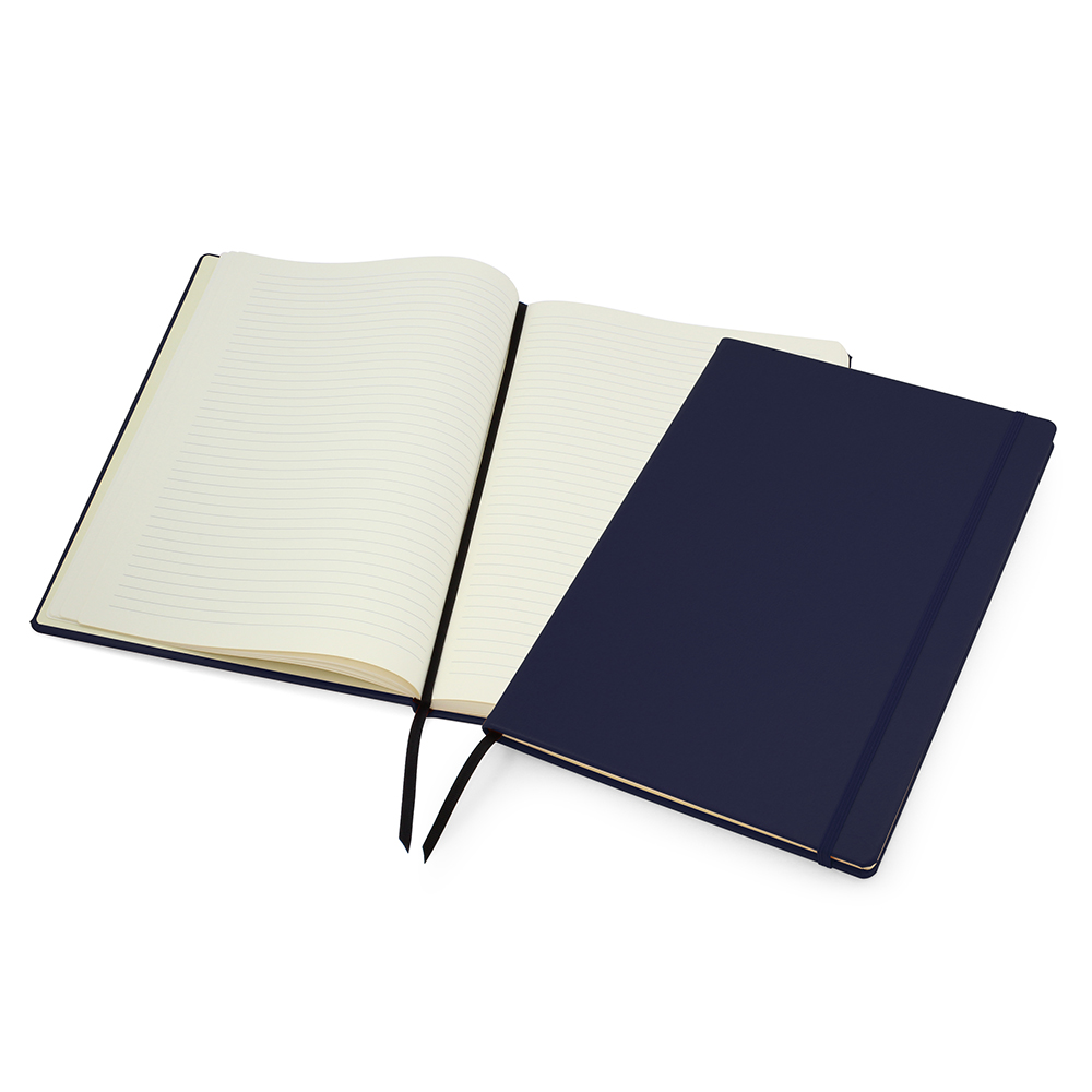 Navy Lifestyle A4 Casebound Notebook with Strap