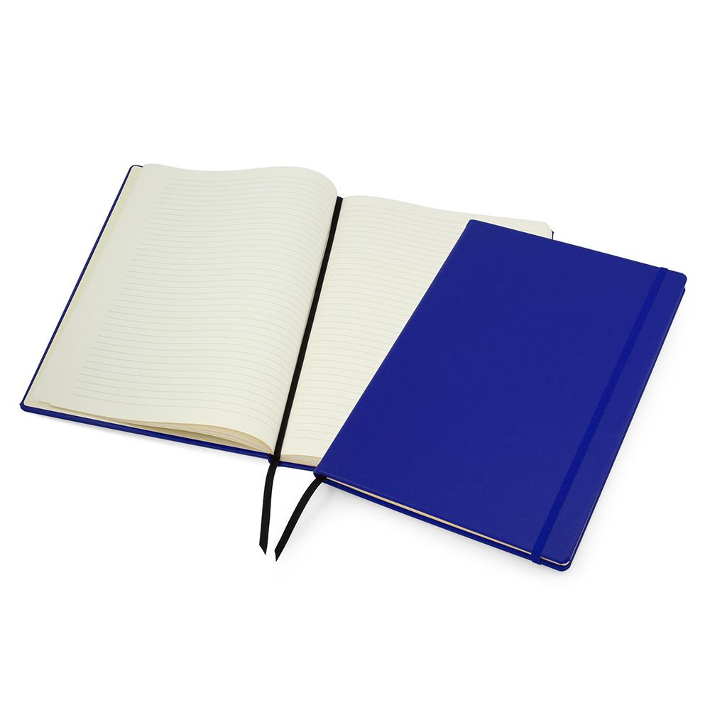 Reflex Blue Lifestyle A4 Casebound Notebook with Strap