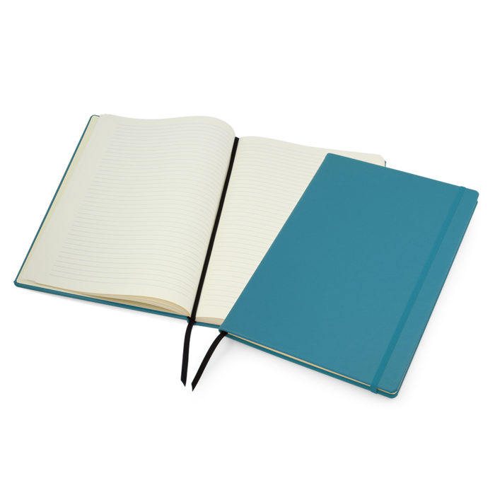 Sky Blue Lifestyle A4 Casebound Notebook with Strap