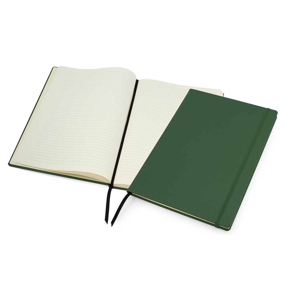 Green Lifestyle A4 Casebound Notebook with Strap