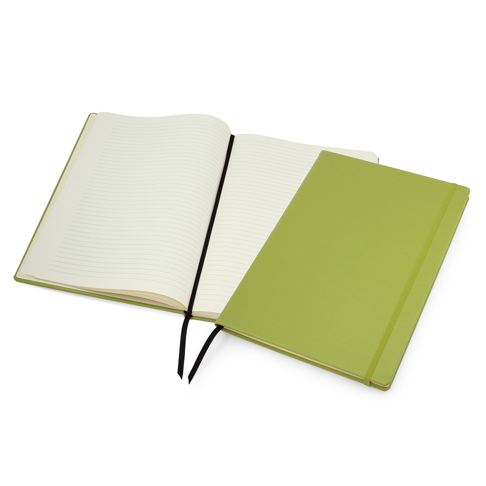 Lime Green Lifestyle A4 Casebound Notebook with Strap