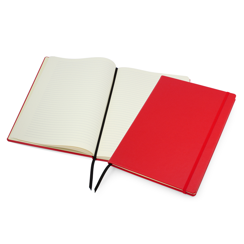 Red Lifestyle A4 Casebound Notebook with Strap