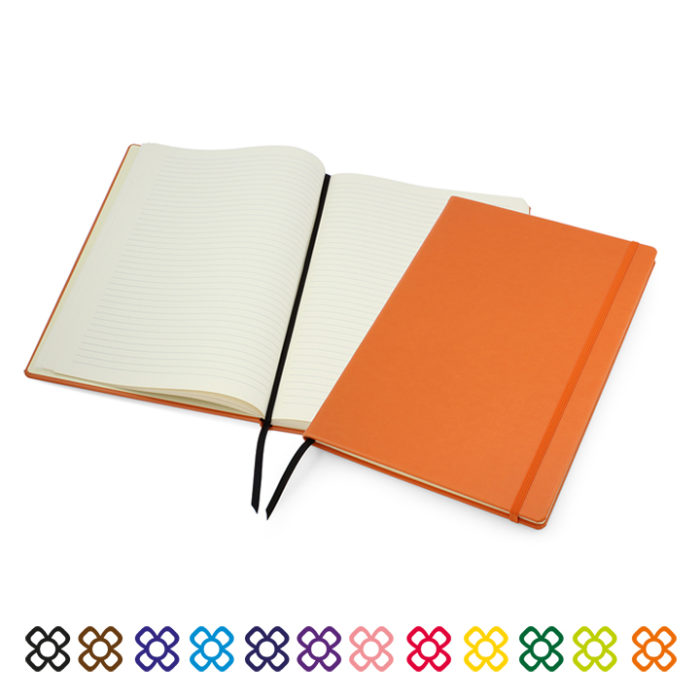 Lifestyle A4 Casebound Notebook with Strap
