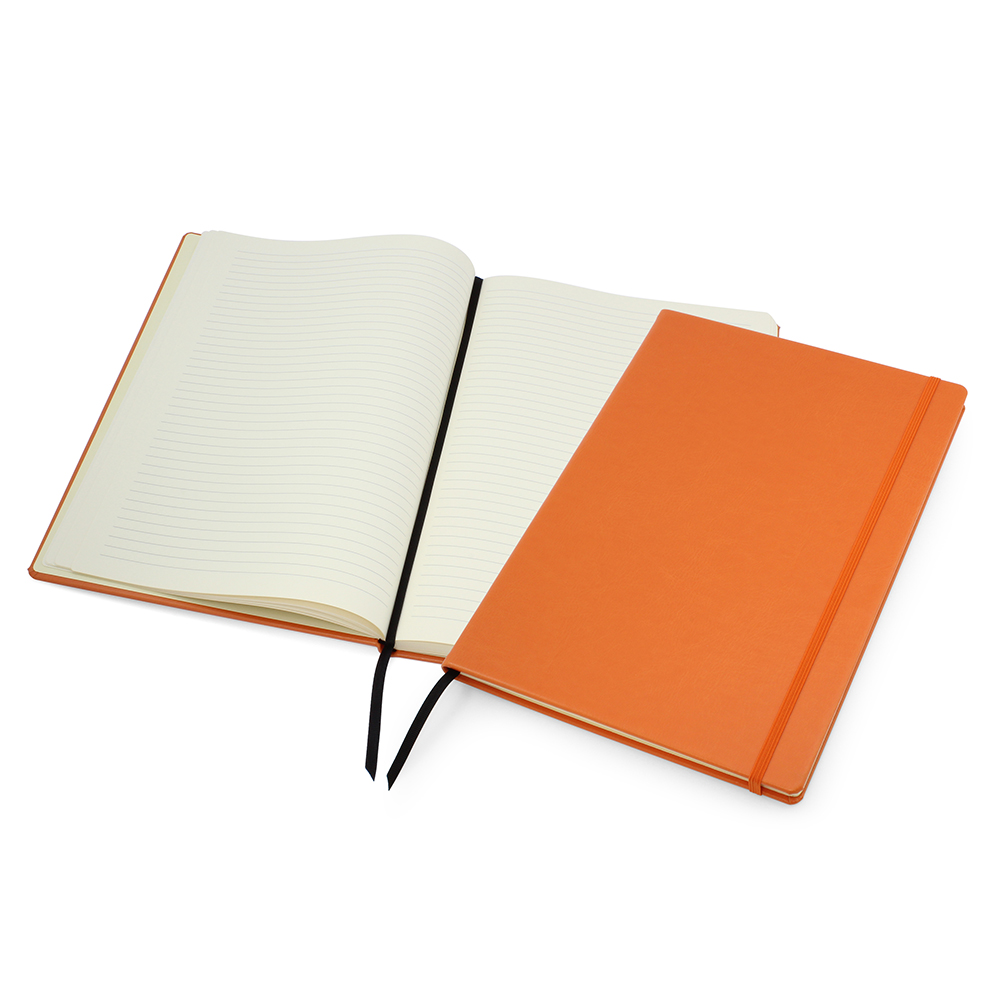 Orange Lifestyle A4 Casebound Notebook with Strap