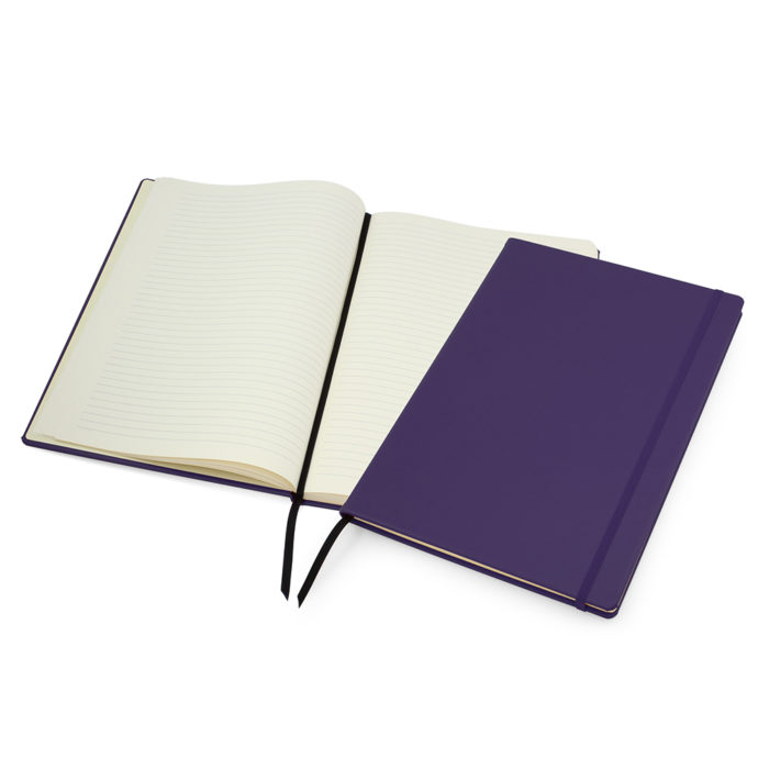 Purple Lifestyle A4 Casebound Notebook with Strap
