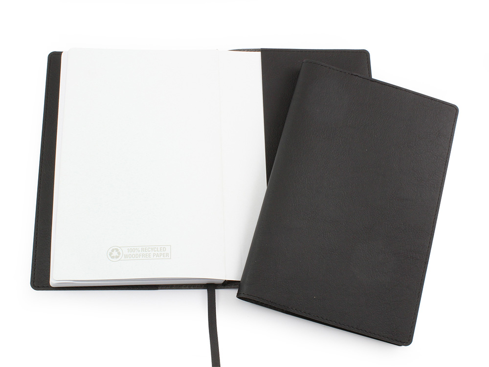 Biodegradable Notebook Jacket in Black