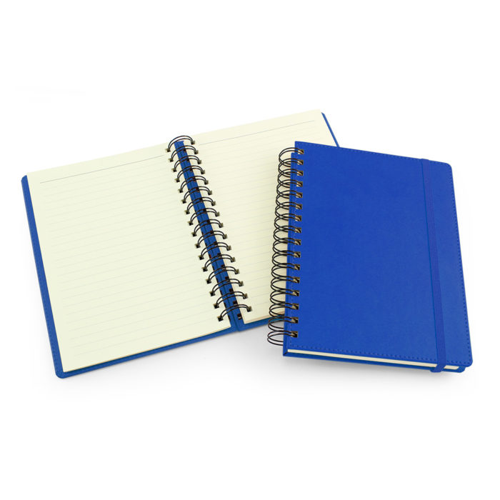 UK Made A5 Wiro Notebook in Azure Blue