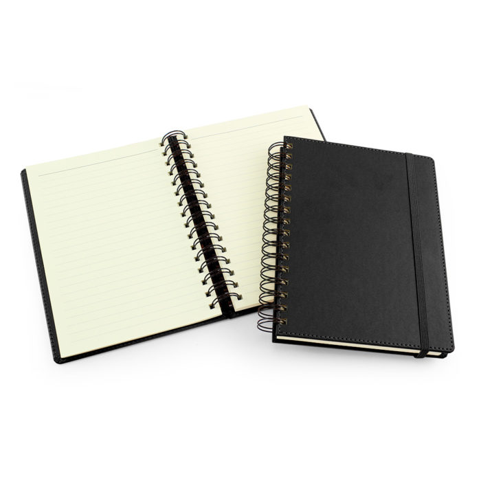 UK Made A5 Wiro Notebook in Black