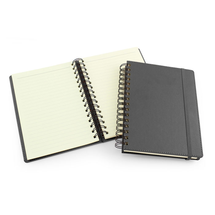 UK Made A5 Wiro Notebook in Dark Grey