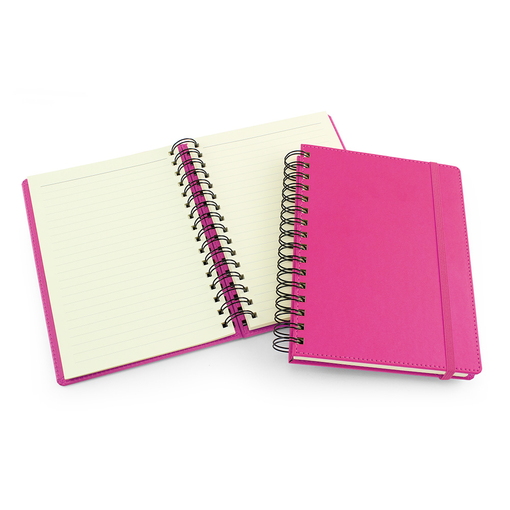 UK Made A5 Wiro Notebook in Hot Pink