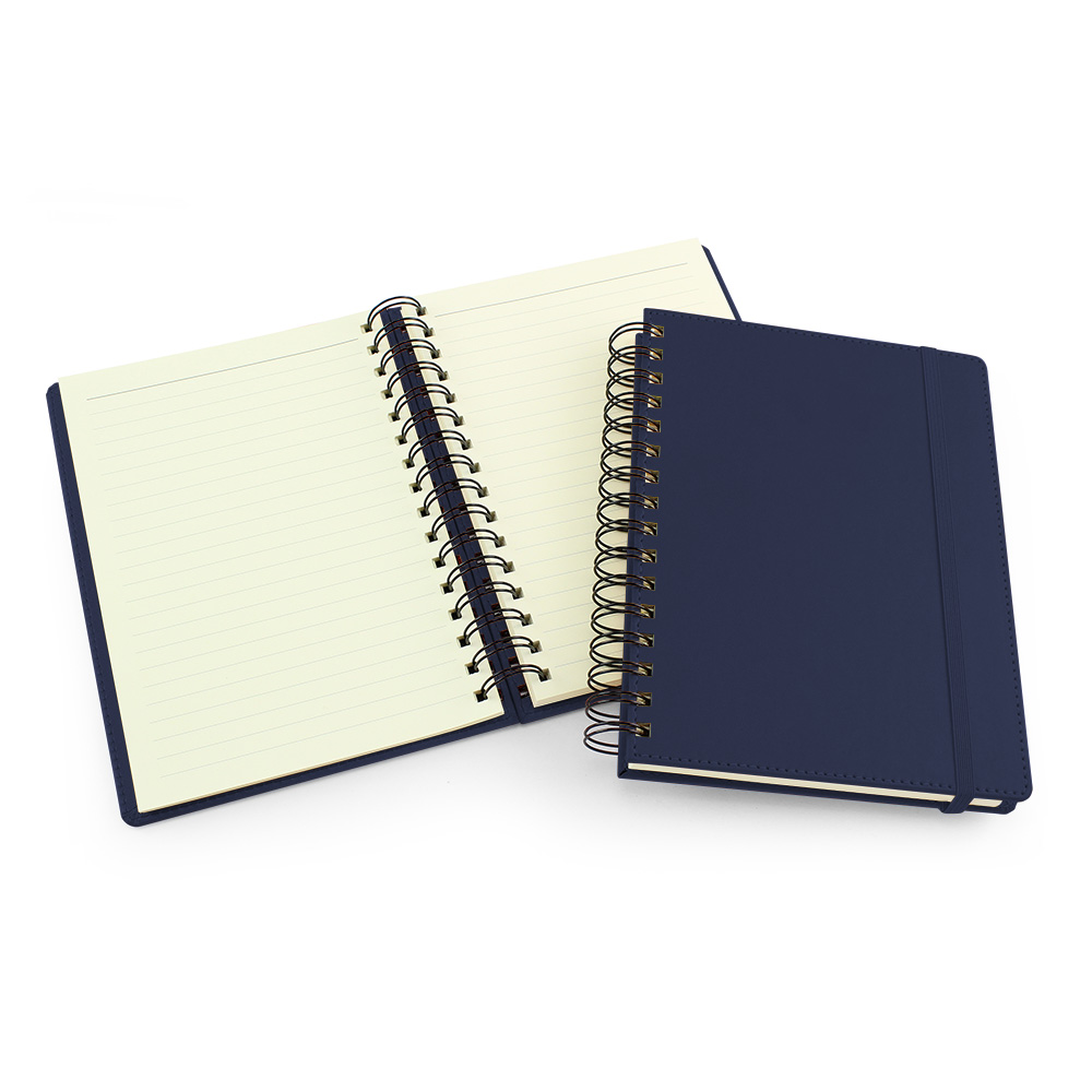 UK Made A5 Wiro Notebook in Marine Navy
