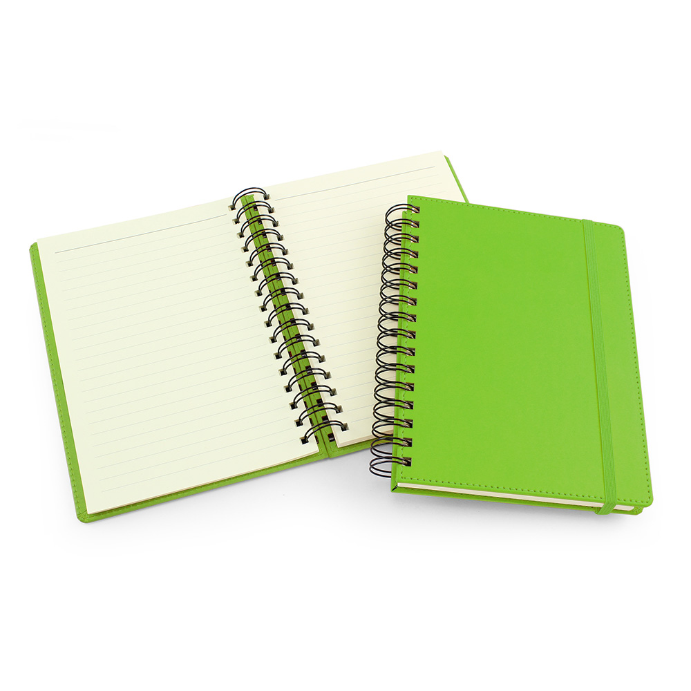 UK Made A5 Wiro Notebook in Pea Green