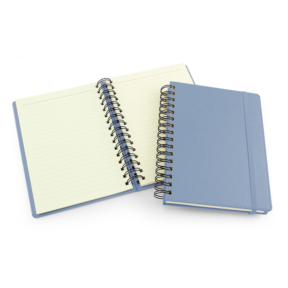 UK Made A5 Wiro Notebook in Powder Blue