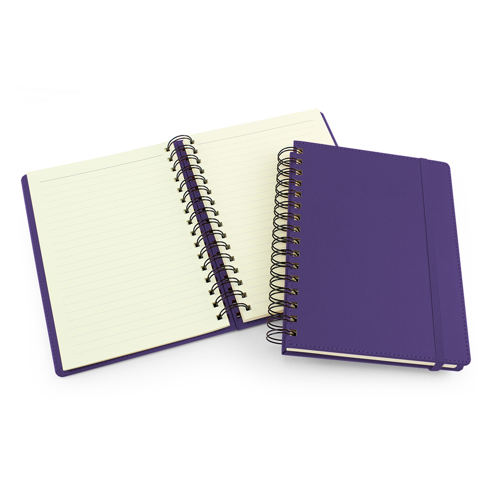 UK Made A5 Wiro Notebook in Purple