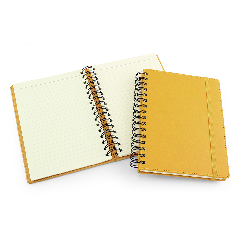 UK Made A5 Wiro Notebook in Sunflower Yellow