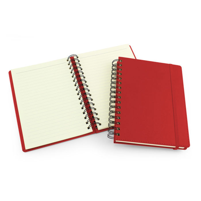 UK Made A5 Wiro Notebook in Tomato Red