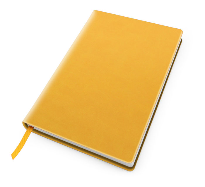 Cesca A5 Dot Book in Sunflower Yellow