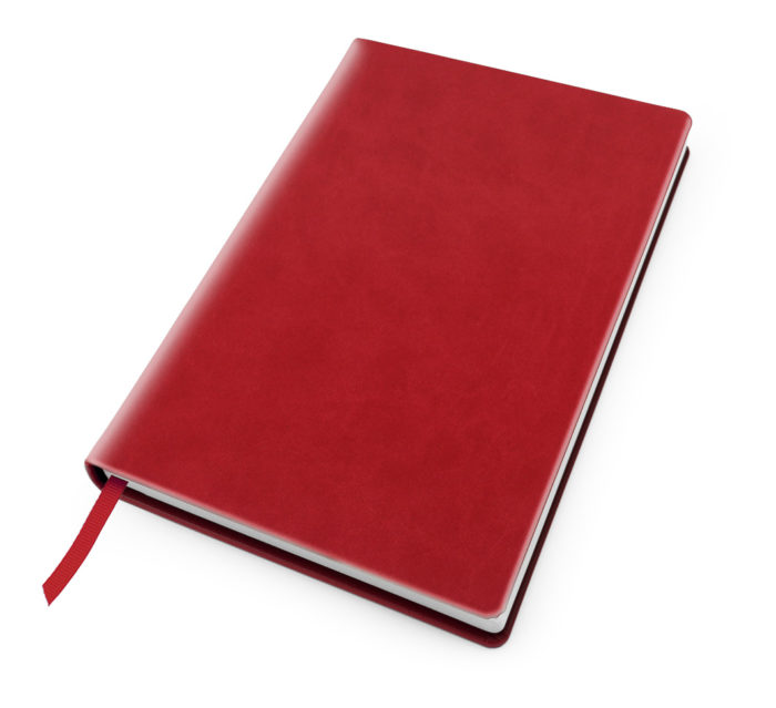 Cesca A5 Dot Book in Tomato Red