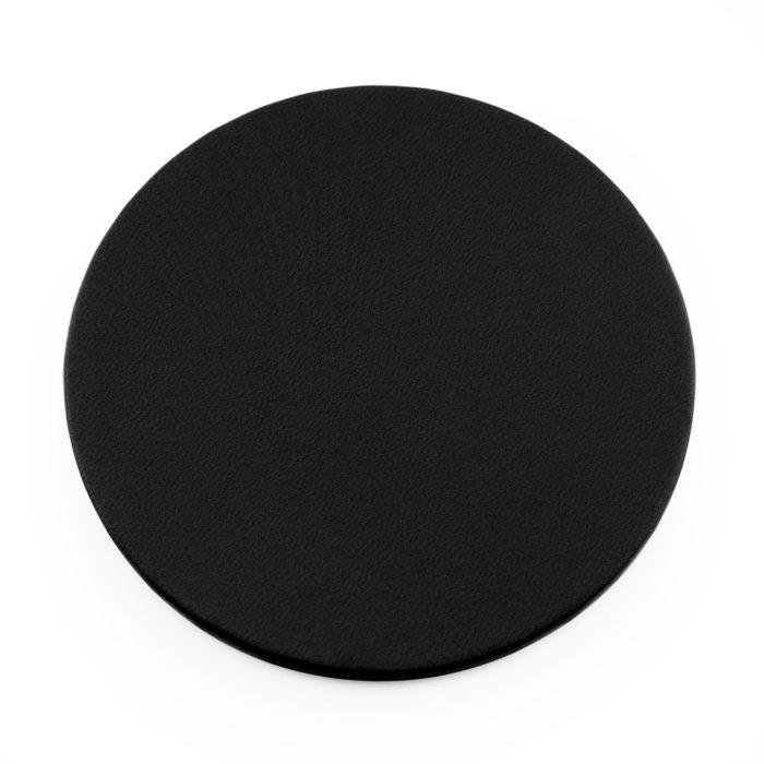 Black Round Coaster