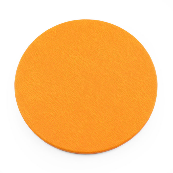 Orange Soft Touch Round Coaster