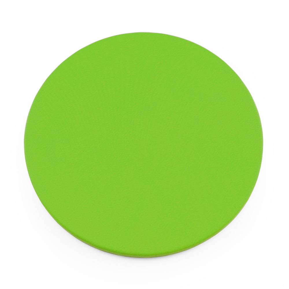 Pea Green Round Coaster