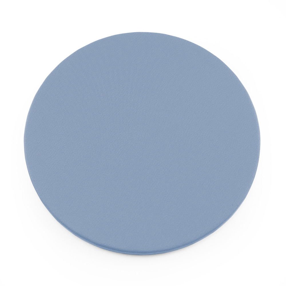 powder Blue Round Coaster