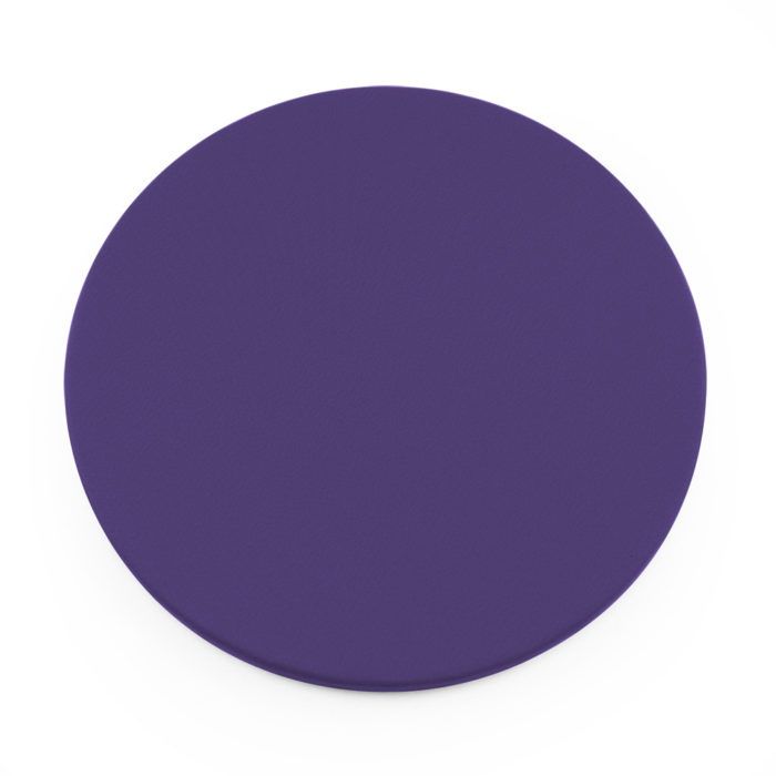 Purple Round Coaster